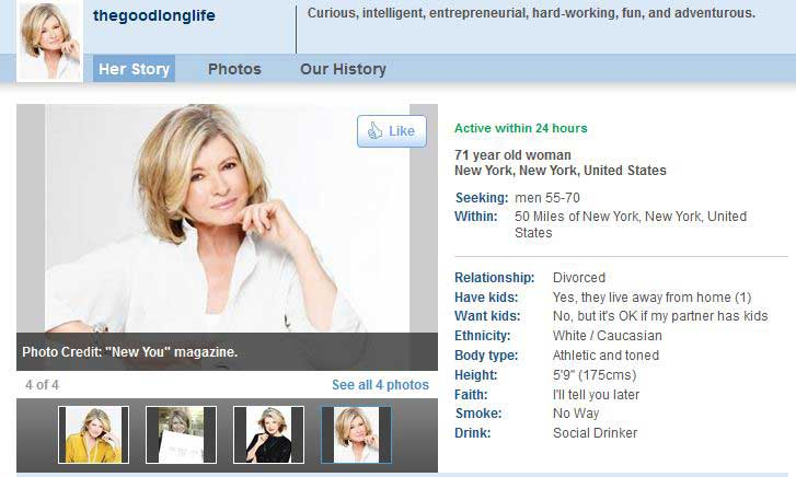 internet dating profile